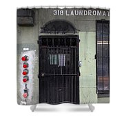 Lost In Urban America - Laundromat - Tenderloin District - San Francisco California - 5d19347 Shower Curtain by Wingsdomain Art and Photography