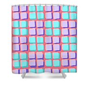 Lots Of Squares Shower Curtain by Louisa Knight