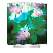 Lotus--ethereal Impressions II 20a1 Shower Curtain by Gerry Gantt