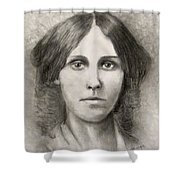 Louisa May Alcott Shower Curtain by Jack Skinner
