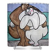Love Its Whats On The Inside That Counts Shower Curtain by Anthony Falbo