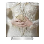 Love Letters Shower Curtain by Jill Battaglia