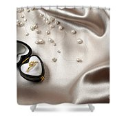 Love Ring Shower Curtain by Carlos Caetano