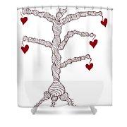 Love Tree Shower Curtain by Frank Tschakert