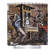 Lovejoys Printing Press Shower Curtain by Granger