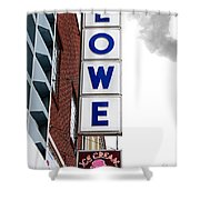 Lowe Drug Store Sign Color Shower Curtain by Andee Design