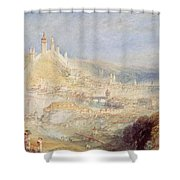 Lucerne From The Walls Shower Curtain by Joseph Mallord William Turner