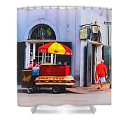 Lucky Dogs - Bourbon Street Shower Curtain by Bill Cannon