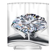 Luxury Wedding Ring  Shower Curtain by Setsiri Silapasuwanchai