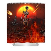Machines Rise To Take Their Place Shower Curtain by Mark Stevenson
