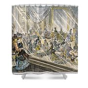Macys Holiday Display, 1876 Shower Curtain by Granger
