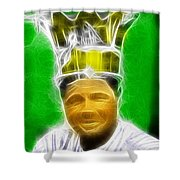 Magical Babe Ruth Shower Curtain by Paul Van Scott