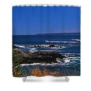 Maine At West Quoddy Shower Curtain by Skip Willits