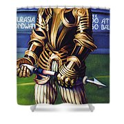 Major League Gladiator Shower Curtain by Patrick Anthony Pierson