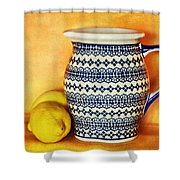 Making Lemonade Shower Curtain by Tammy Wetzel