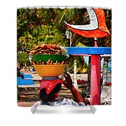 Mama Coco Shower Curtain by Skip Hunt