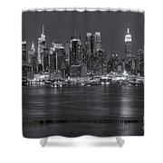 Manhattan Twilight Vii Shower Curtain by Clarence Holmes