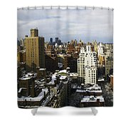 Manhattan View On A Winter Day Shower Curtain by Madeline Ellis