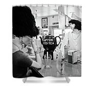 Mannequins At Peggy Sues 50's Diner Shower Curtain by Julie Niemela
