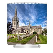 Marble Church Shower Curtain by Adrian Evans