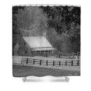 Mariah Wright House Appomattox Virginia Shower Curtain by Teresa Mucha