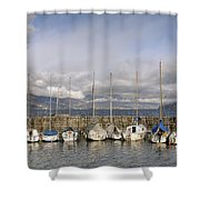 Marina Cannobio Shower Curtain by Joana Kruse