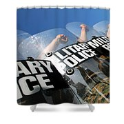 Marines Practice Riot Control Shower Curtain by Stocktrek Images