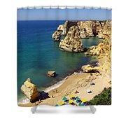 Marinha Beach Shower Curtain by Carlos Caetano