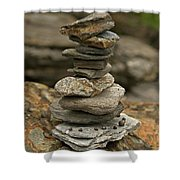 Mark The Trail Shower Curtain by Paul Mangold