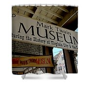 Mark Twian Museum Virginina City Nv Shower Curtain by LeeAnn McLaneGoetz McLaneGoetzStudioLLCcom