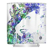 Marlene Dietrich Shower Curtain by Naxart Studio