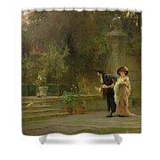 Married For Love Shower Curtain by Marcus Stone