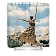 Mary Poppins Shower Curtain by Joana Kruse