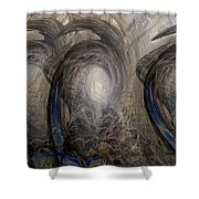 Massive Attack Shower Curtain by Linda Sannuti
