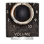 Master Volume Shower Curtain by Scott Norris