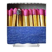 matchbox Shower Curtain by Carlos Caetano