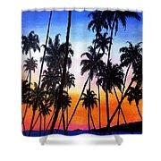 Mayaro Red Dawn Shower Curtain by Karin  Dawn Kelshall- Best