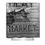 Meat Market, 1938 Shower Curtain by Granger