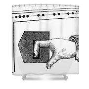 MEDIEVAL FINGER PILLORY Shower Curtain by Granger