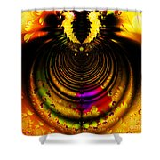 Melting Pot . Gold . Horizontal Cut . S8a.s11 Shower Curtain by Wingsdomain Art and Photography