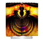 Melting Pot . Gold . Square . S8a.S11 Shower Curtain by Wingsdomain Art and Photography