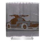 Mercedes Benz 300 Shower Curtain by Naxart Studio