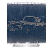 Mercedes Benz 300 Sl Shower Curtain by Naxart Studio