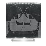 Mercedes Benz C IIi Concept Shower Curtain by Naxart Studio