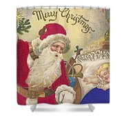 Merry Christmas Shower Curtain by American School