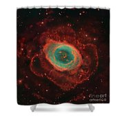 Messier 57, The Ring Nebula Shower Curtain by Robert Gendler