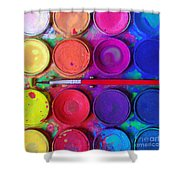 messy paints Shower Curtain by Carlos Caetano