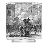 Mexican War: Monterrey Shower Curtain by Granger