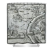 Mexico - Spanish Conquest Shower Curtain by Granger