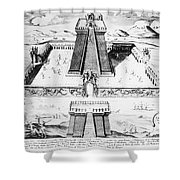 Mexico: Aztec Temple, 1765 Shower Curtain by Granger